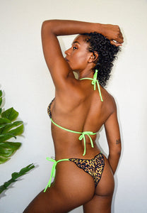 IPANEMA CHEETAH + NEON GREEN TOP