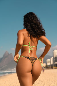 IPANEMA CHEETAH + NEON GREEN BOTTOM