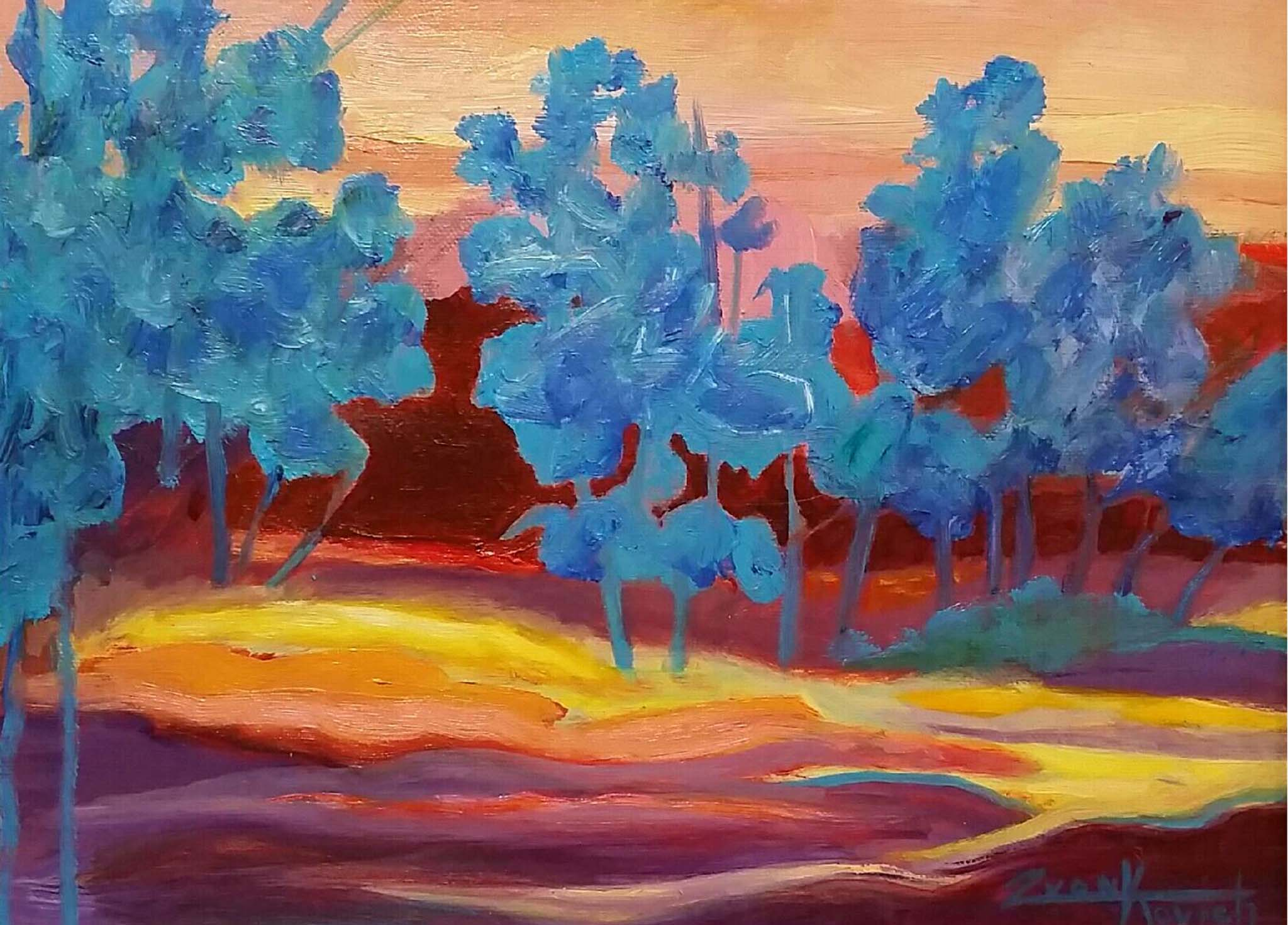 Oaks in Blue (Garden of the Gods Series)