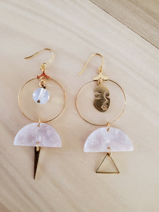 Earrings- Opal
