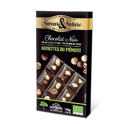 TABLETTE NOIR NOISETTE 70%100G