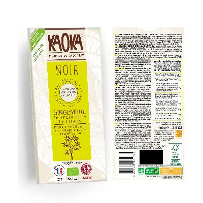 TABLETTE NOIR CITRON GING 100G