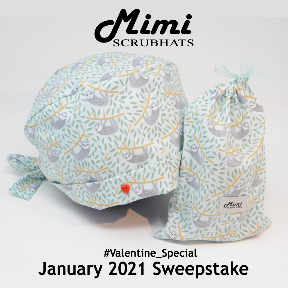 MimiScrubHats January 2021 Sweepstake