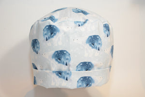 Polar Bear and Stars on Icy Blue