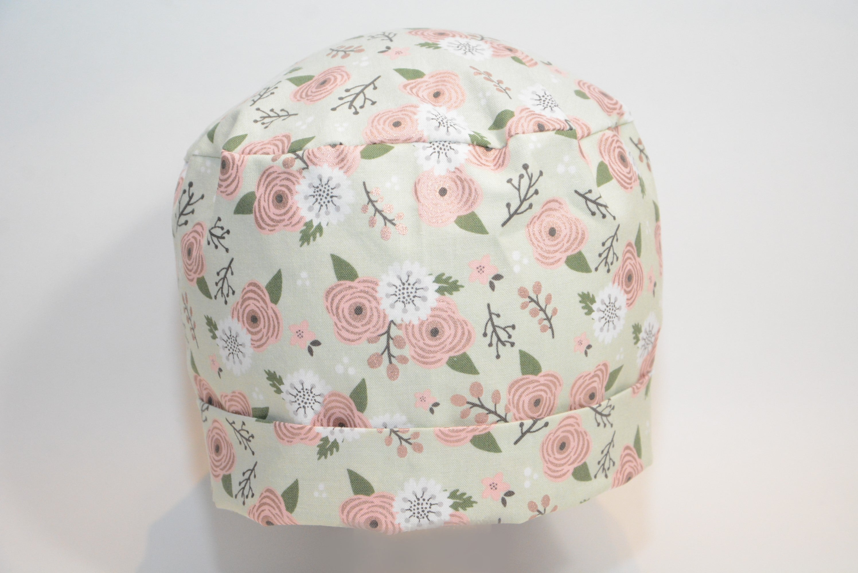 Twin Roses on Pastel Green - *Rose Gold Print*