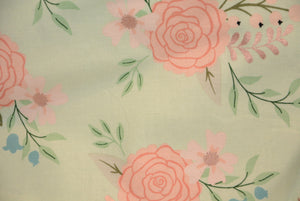Roses on Pastel Green - *Rose Gold Print*
