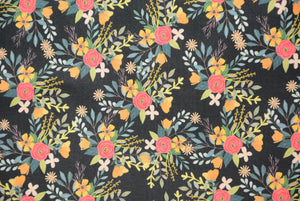 Mixed Floral on Coal