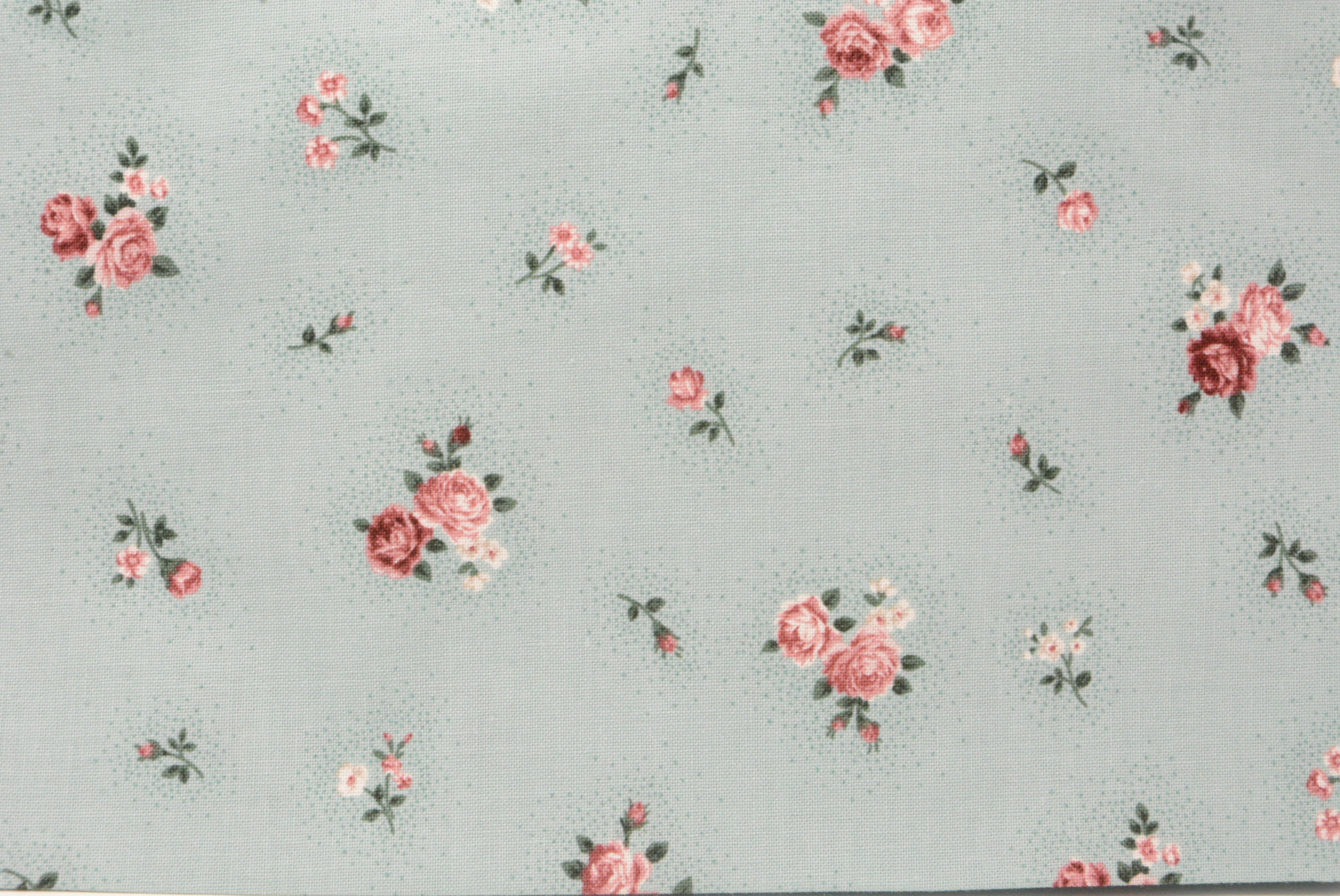 Country Roses on Teal