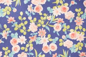 Mixed Floral on Royal Blue