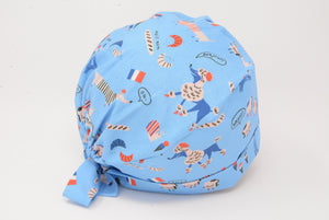 Everything French Dachshund Croissant Baguette Eiffel - Blue