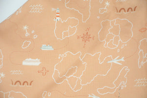 Travelers Map on Petal Pink