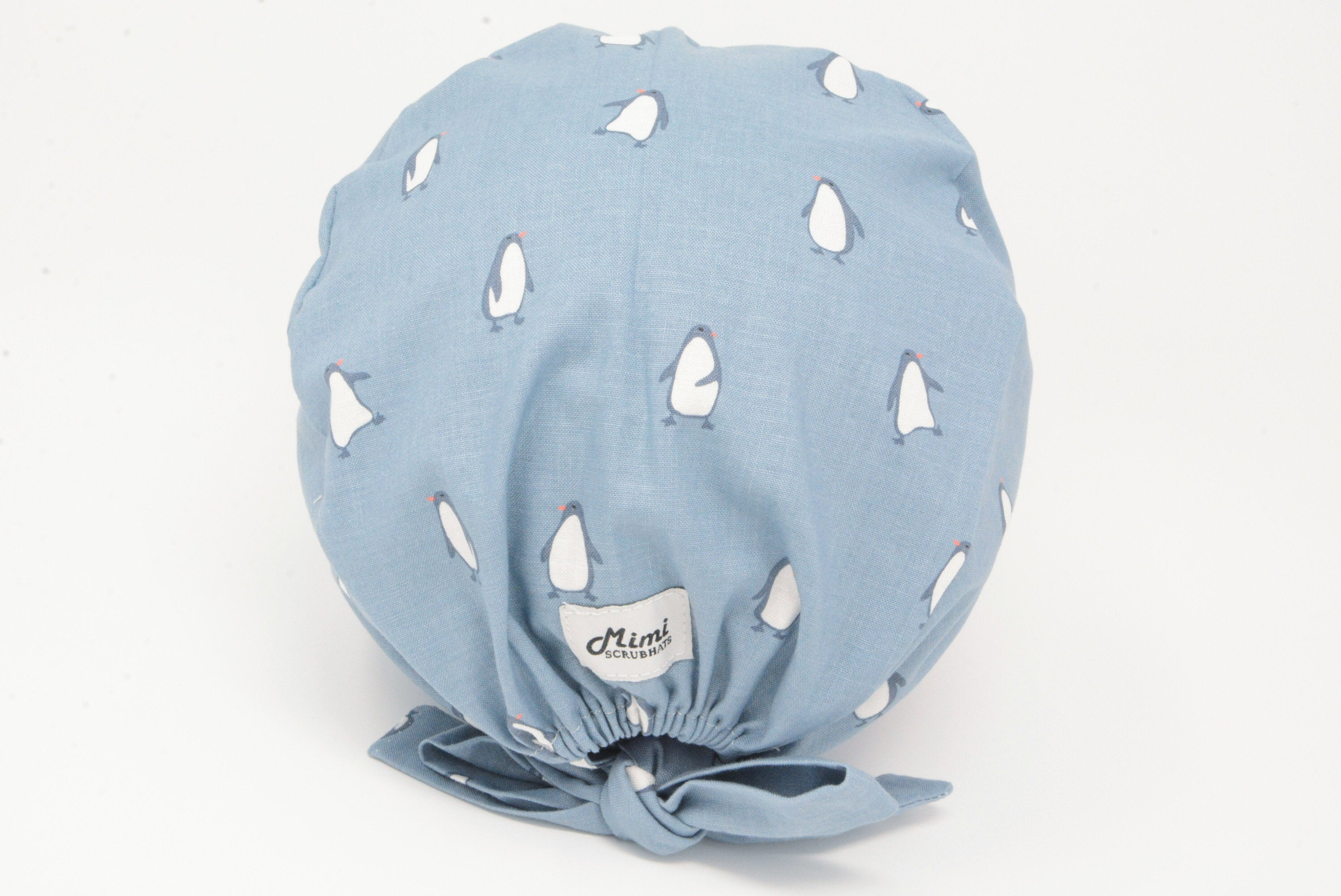 Penguins on Muted Blue - Cute Animal Pixie for Women
