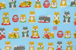 Load image into Gallery viewer, Shiba Dogs Japanese Theme - Light Blue