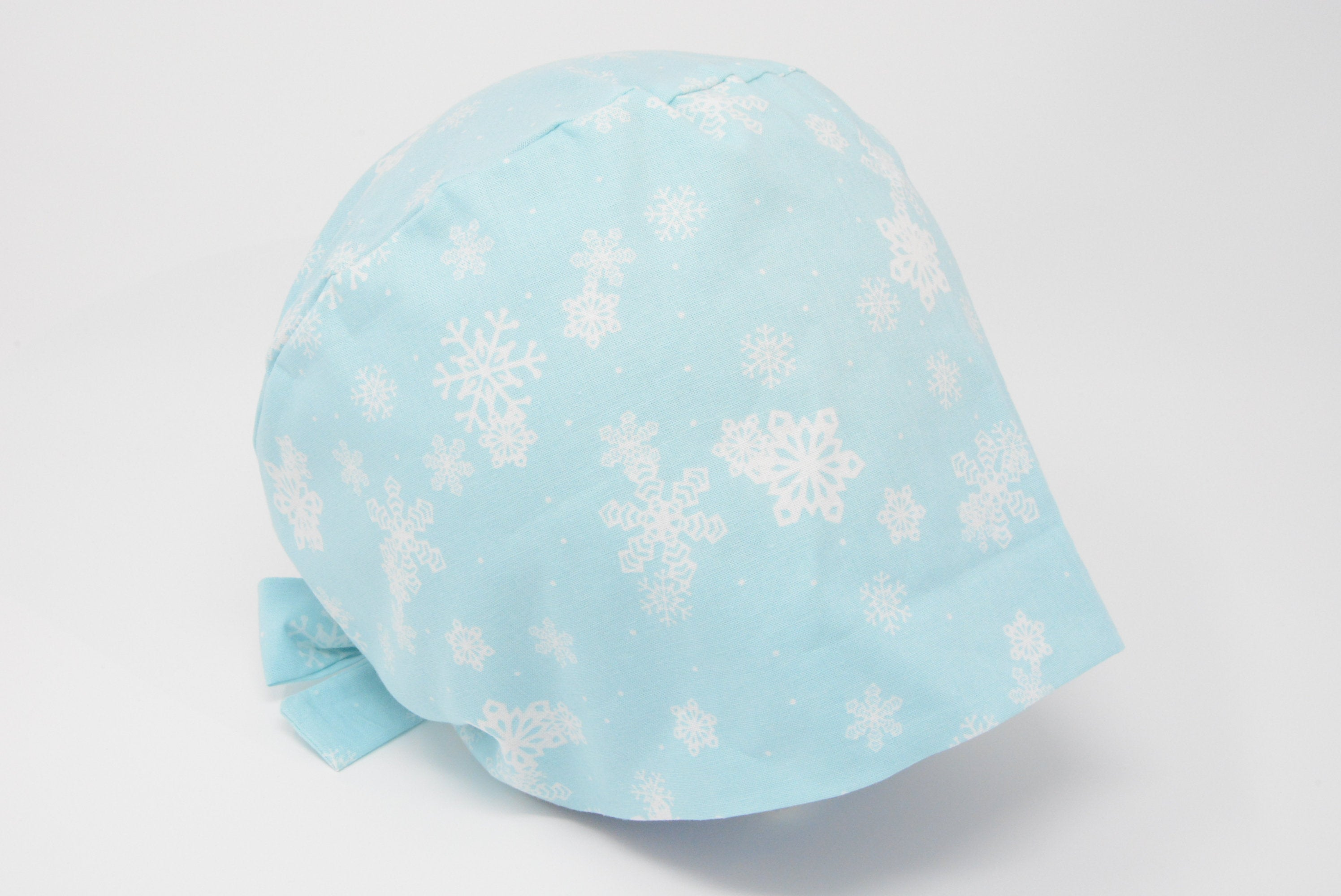 Christmas Snowflakes on Sky Blue