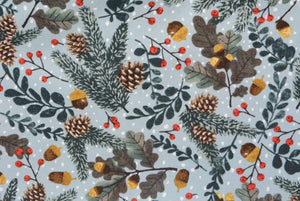 Christmas Frosted Mistletoe Pine and Acorn