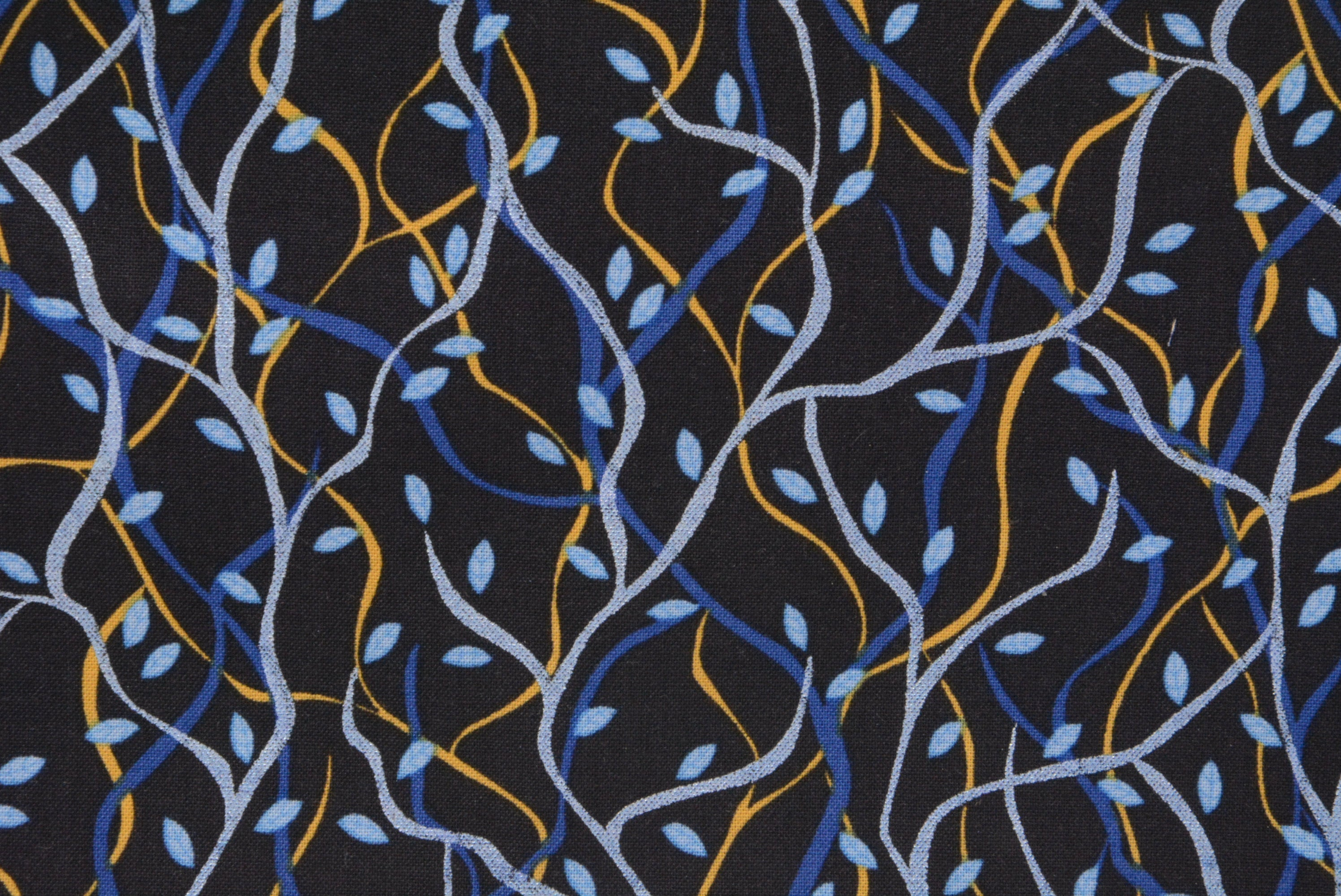 Willow - Dark Blue - *Metallic Print*