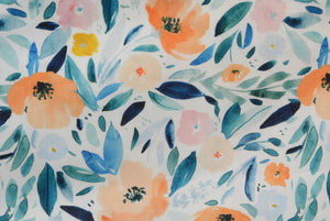 Apricot Watercolor Floral