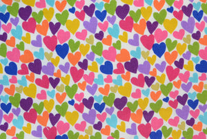 Colorful Hearts - Gold Metallic Print