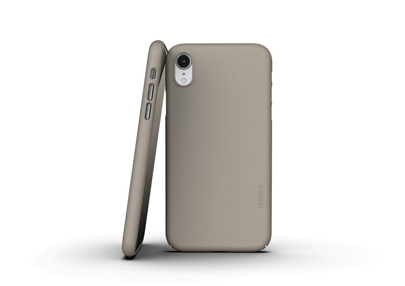 Nudient - Dünne iPhone XR Hülle V3 - Clay Beige