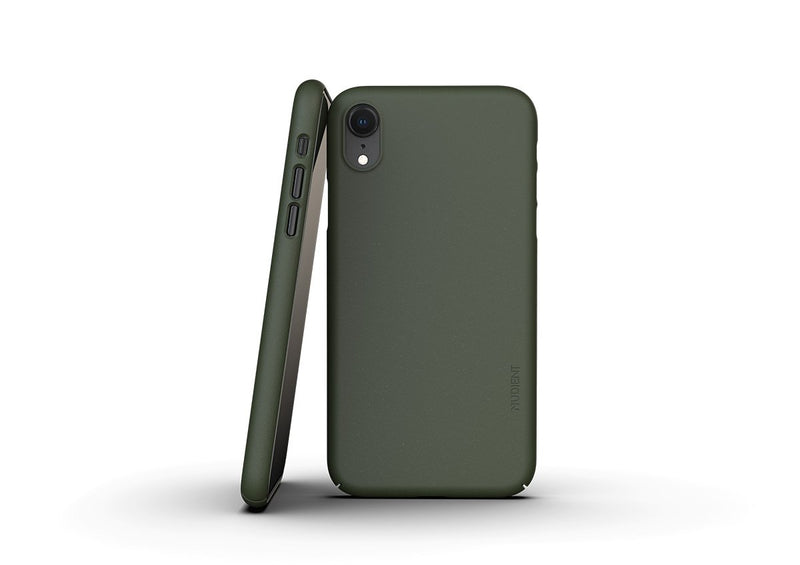 Nudient - Dünne iPhone XR Hülle V3 - Pine Green