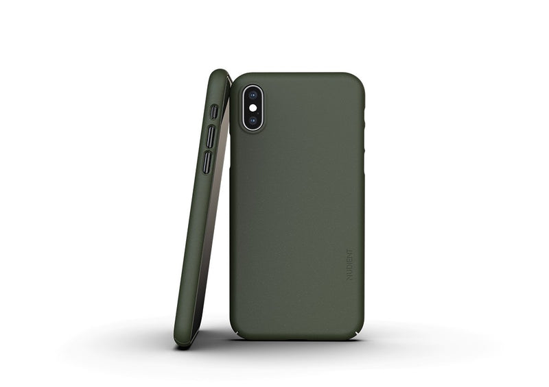 Nudient - Dünne iPhone XS Hülle V3 - Pine Green