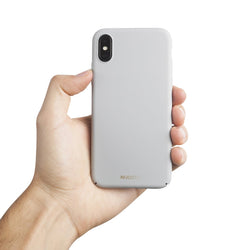 Dünne iPhone XS Max Hülle V2 - Pearl Grey