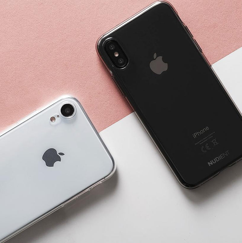 "Dünne Transparent iPhone XR 6,1"" Hülle - Black transparent"