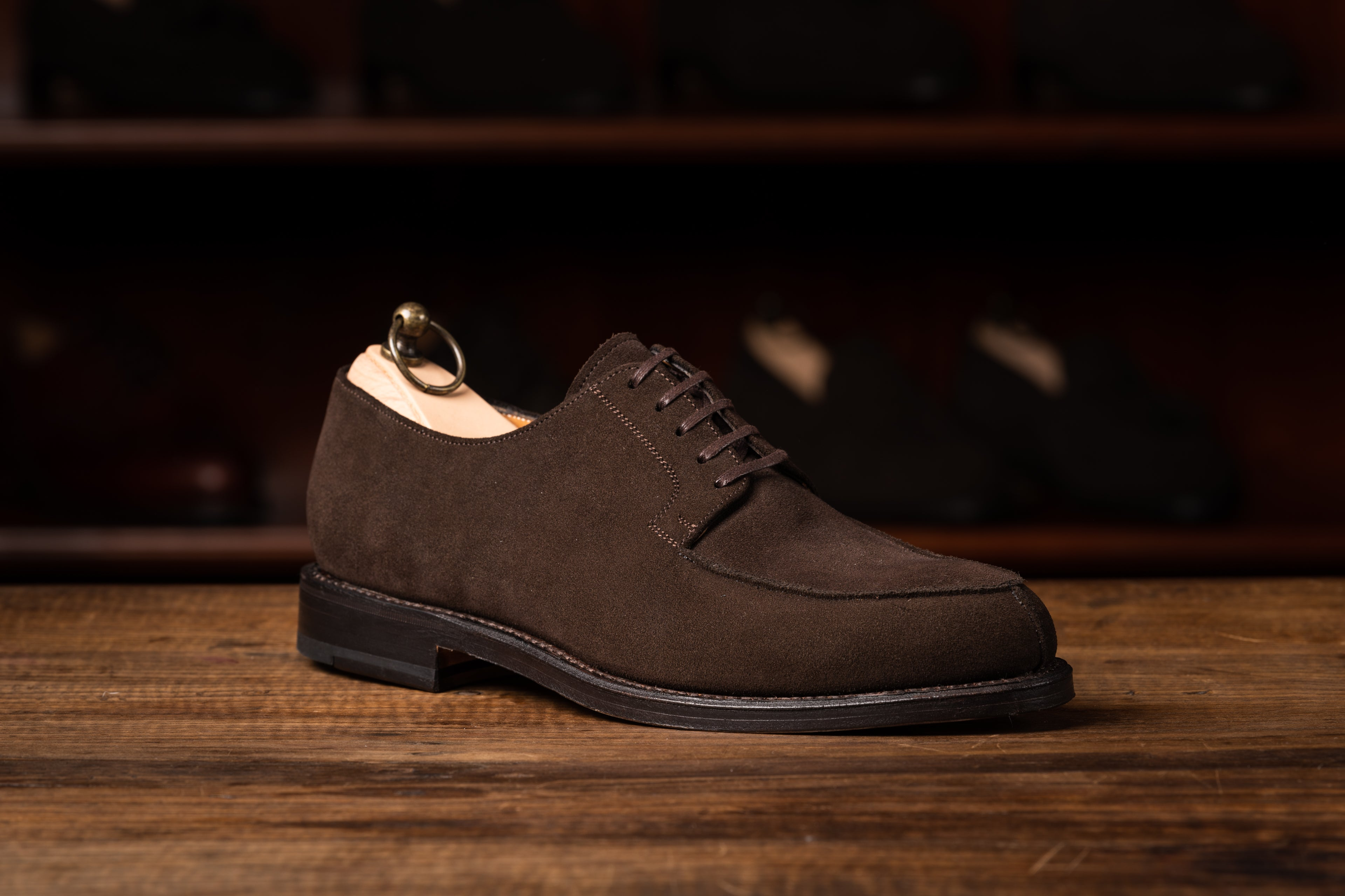 Norweger // English Suede // Dunkelbraun // Rendenbach Ledersohle