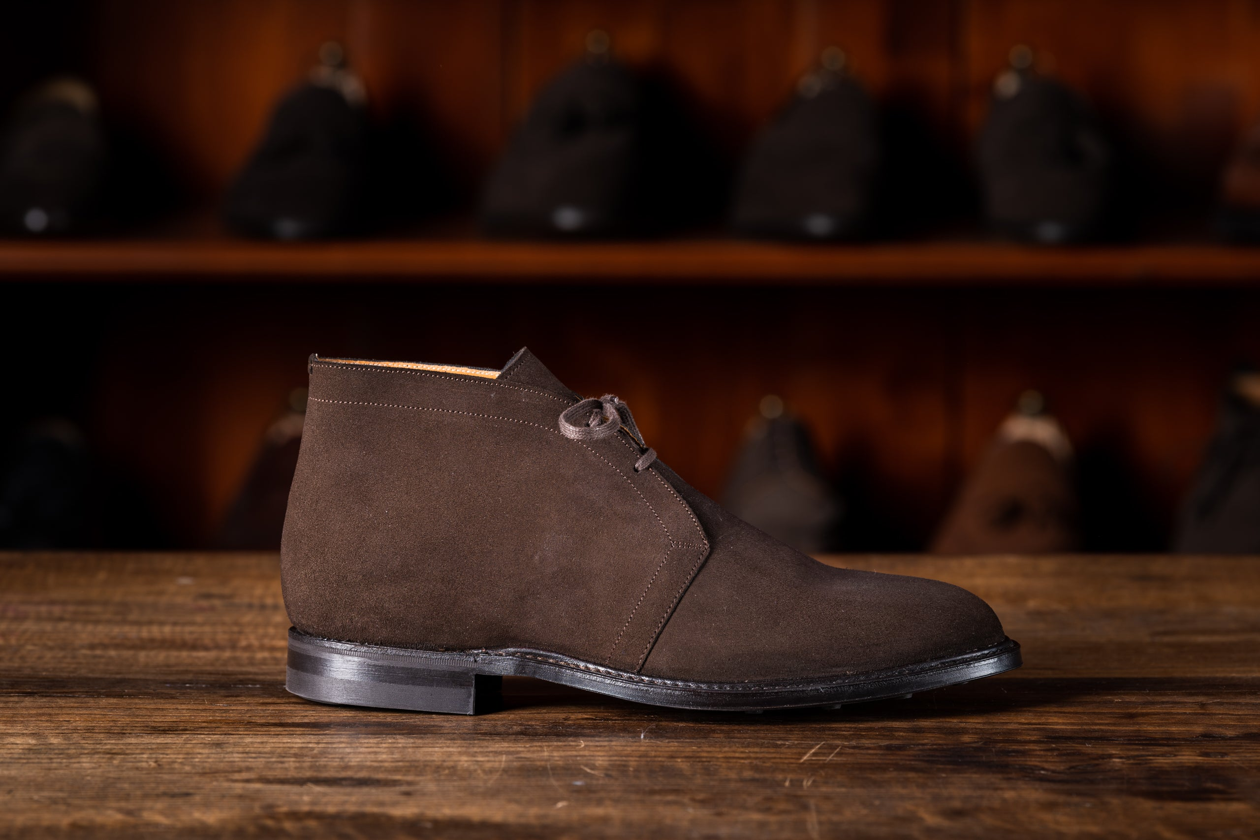 Chukka Boot // English Suede // Dunkelbraun // Dainite Sohle