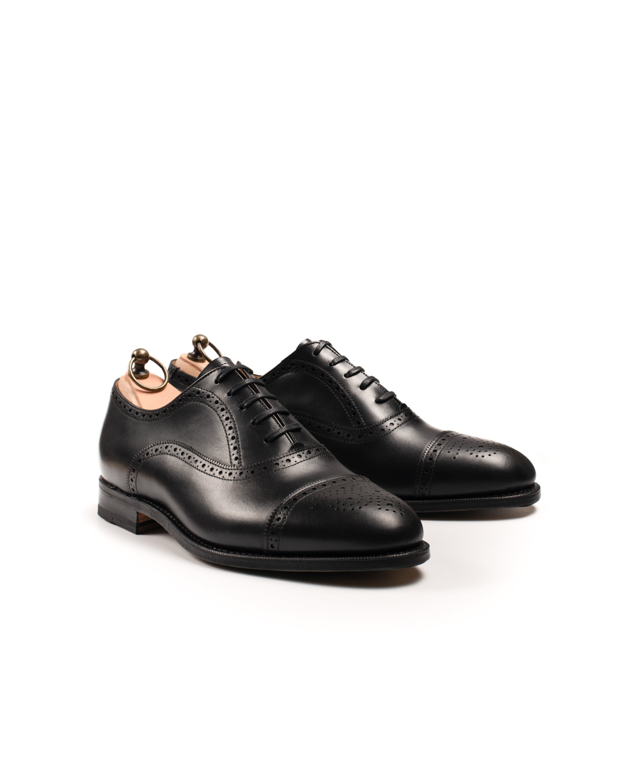 Oxford // Semi Brogue // Boxcalf // Schwarz // Rendenbach Ledersohle