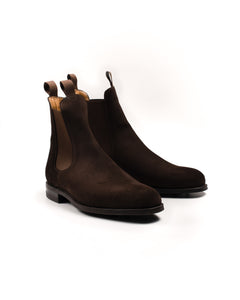 Chelsea Boot // English Suede // Dunkelbraun // Dainite Sohle
