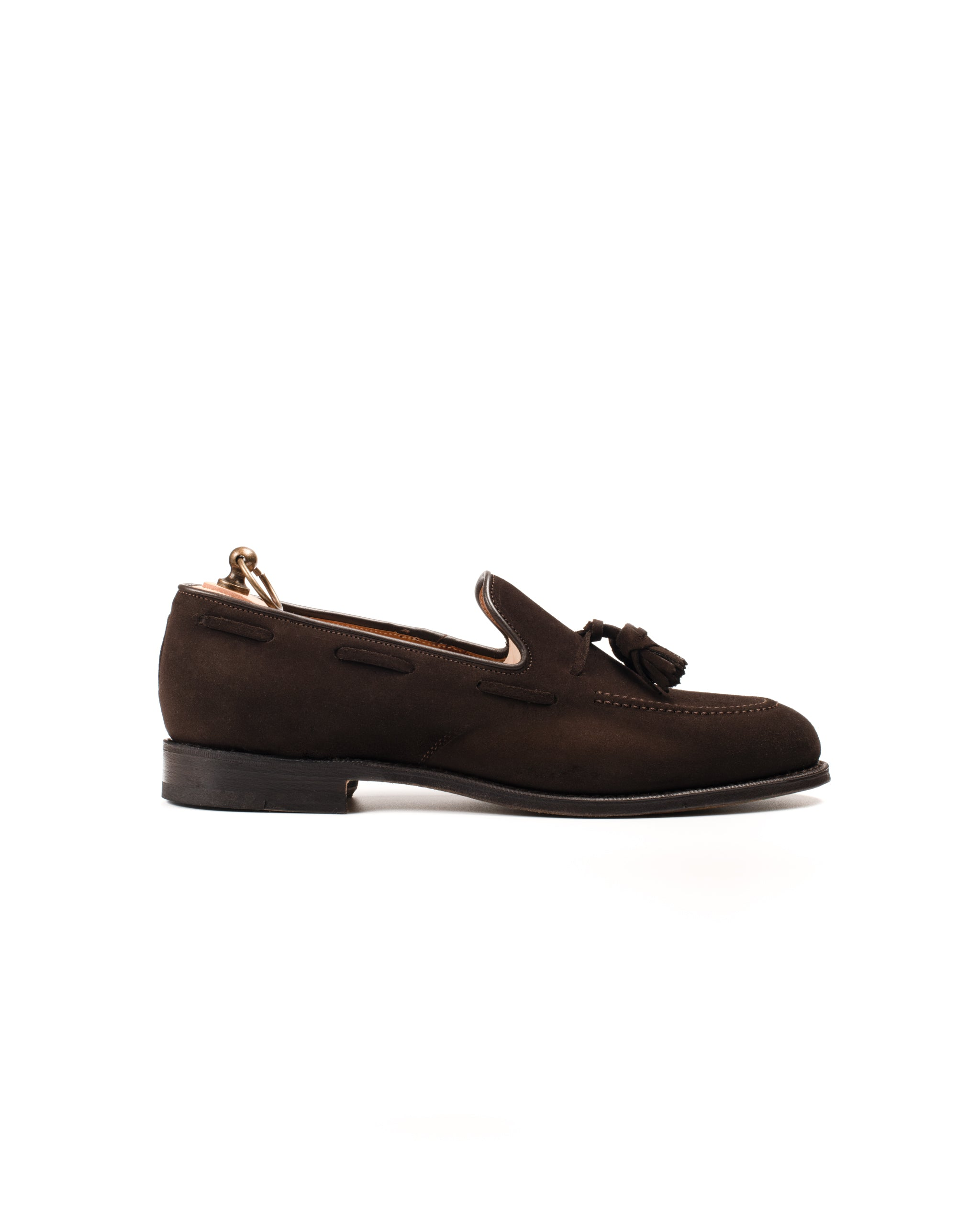 Tassel Loafer // English Suede // Dunkelbraun // Rendenbach Ledersohle