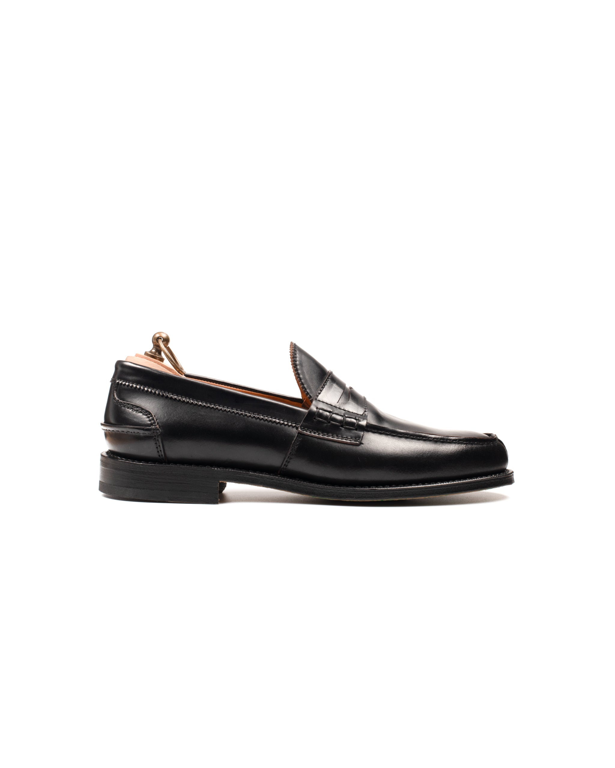 Penny Loafer // Milano // Shell Cordovan // Schwarz // Rendenbach Ledersohle