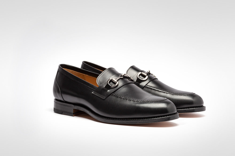 Horsebit Loafer // Boxcalf // Schwarz // Ledersohle