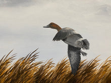 Load image into Gallery viewer, Guy Crittenden Original Signed Oil on Canvas Painting Ducks Landing