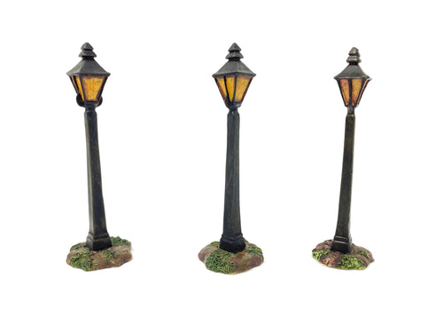 Lang & Wise Lampposts (Set of 3) 0506004 W/ BOX