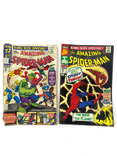 Marvel Comics Group The Amazing Spider-Man #3 & #4 King Size Specials