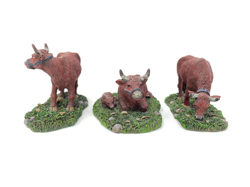 Lang & Wise Cows (Set of 3) W/ BOX