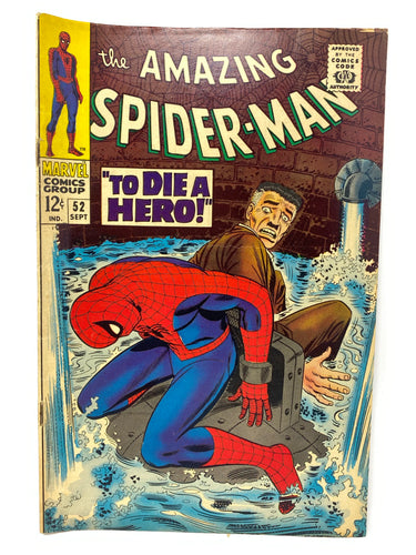 "Marvel Comics Group The Amazing Spider-Man #52 ""To Die a Hero"""