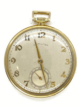 Load image into Gallery viewer, 1950-51 Hamilton 921 21J 10S GF MDL-1 Open Face Pocket Watch Greyhound Bus Gift