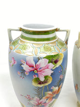 Load image into Gallery viewer, Antique Imperial Nippon Pair of Hand Painted Vases