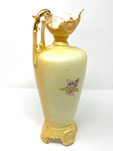 19th Cent Robert Hanke Austrian Royal Wettina Enamel Ewer Pitcher