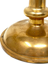 Load image into Gallery viewer, Pair of Heavy Antique Solid Copper Candlesticks