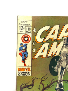Marvel Comics Group Captain America #113 In Memoriam 1969