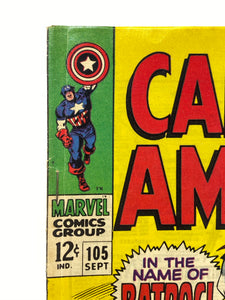 Marvel Comics Group Captain America #105 In the Name of Batroc