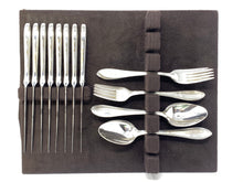 "Load image into Gallery viewer, Christolfe France Silver Plate ""Versailles"" 24pc Flatware Set"