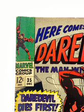 "Load image into Gallery viewer, Marvel Comics Group Daredevil #35 ""Daredevil Dies First!"""