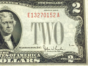 FR. 1508 $2 1928-G Legal Tender E-A Block - Very Nice