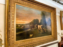 "Load image into Gallery viewer, Hugh Bolton Jones Original Oil on Canvas ""New York"" Cattle Large 50x30"