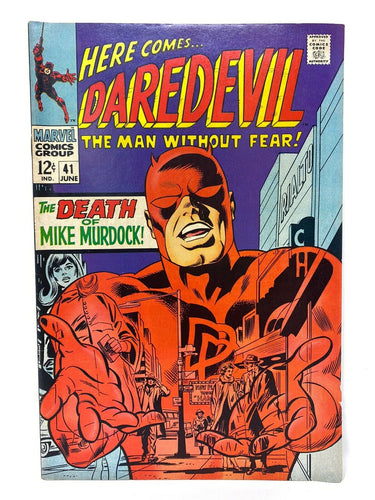 "Marvel Comics Group Daredevil #41 ""The Death of Murdock!"""